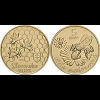 5 Euro Honigbiene 2021 bfr Slowakei