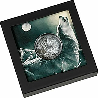 Mongolei 2021 1000 T Mystic Wolf Black Proof PP