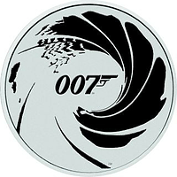 Tuvalu 2022 1 Dollar James Bond - No Time To Die - Bullion 1 oz farbig Stgl.