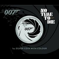 Tuvalu 2022 1 Dollar James Bond - No Time To Die - im Blister farbig Stgl.