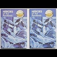2x2 Euro Helden der Pandemie seltene Varianten 2021 Stgl. Malta
