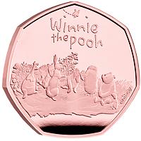 Großbritannien 2021 0,5 Pfund Winnie Pooh und Freunde - Gold PP