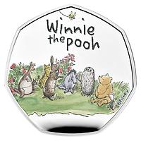 Großbritannien 2021 0,5 Pfund Winnie Pooh und Freunde - Silber PP