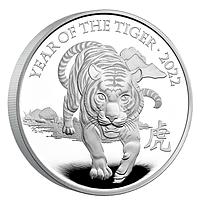 Großbritannien 2022 500 Pfund Jahr des Tigers Kilo PP