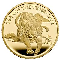 Großbritannien 2022 25 Pfund Jahr des Tigers ¼ Oz PP