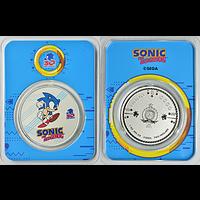 Niue 2021 2 Dollar Sonic der Igel - im Blister Stgl.