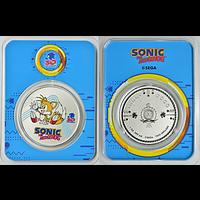 Niue 2021 2 Dollar Sonic der Igel/Miles Tails - im Blister Stgl.