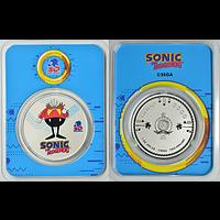 Niue 2021 2 Dollar Sonic der Igel/Dr. Eggman - im Blister Stgl.