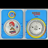 Niue 2021 2 Dollar Sonic der Igel/Knuckles - im Blister Stgl.