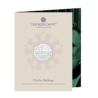 Großbritannien 2021 0,5 Pfund Charles Babbage - Kupfer/Nickel - B.U. Stgl.