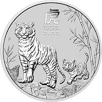 Australien 2022 2 Dollar Jahr des Tigers 2 oz Stgl.