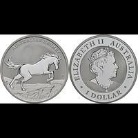 Australien 2021 1 Dollar Australian Brumby 1 oz Stgl.